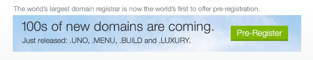 100s of new domains are coming.